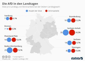 Infografik - Die AfD in den Landtagen