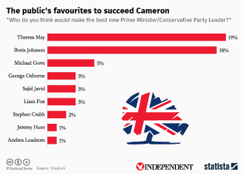 Infographic - The public's favourites to succeed Cameron
