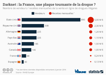 Infographie - Darknet : la France, une plaque tournante de la drogue ?