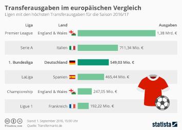 Infografik - europaeische fussballtransfers