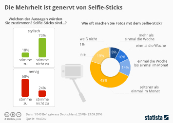 Infografik - Meinung der Deutschen zum Selfie-Stick