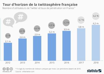 Infographie - Tour d'horizon de la twittosphère française