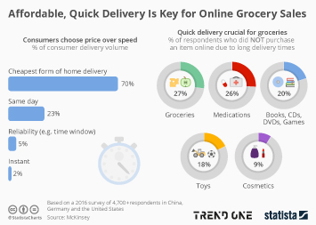 Infographic - Online grocery delivery