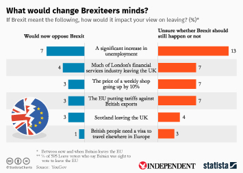 Infographic - What would change Brexiteers minds?
