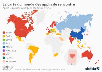 Infographie - La carte du monde des applis de rencontre