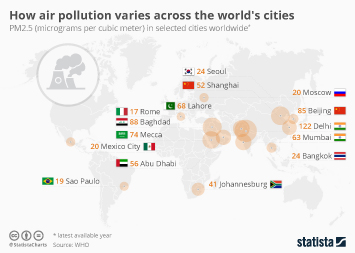 Infographic - How air pollution varies across the world's cities