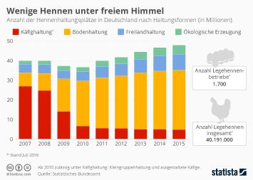 Infografik - legehennen haltung deutschland