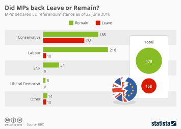 Infographic - Did MPs back Leave or Remain?