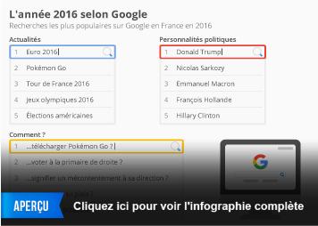 Infographie - L'année 2016 selon Google