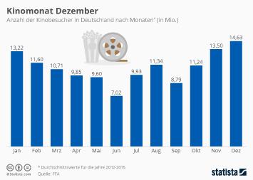 Infografik - Kinobesucher nach Monaten