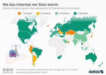 Infografik: Wo das Internet vor Stau warnt   Statista
