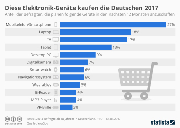 Infografik - Diese Elektronik Geräten kaufen die Deutschen