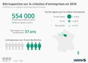 Infographie - Rétrospective sur la création d'entreprises en 2016