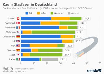 Infografik - Breitband Ausbau im Ländervergleich