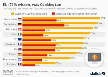 EU: 71% wissen, was Cookies tun