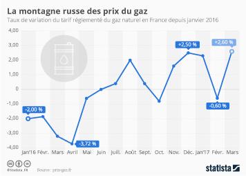 Infographie: La montagne russe des prix du gaz | Statista