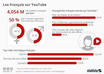 Infographie - Les Français sur YouTube