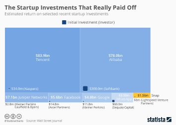 Infographic: The Startup Investments That Really Paid Off | Statista
