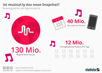 Infografik - musically Nutzung