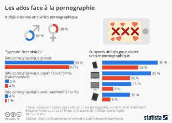 Infographie - Les ados face à la pornographie