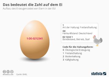 Infografik - Bedeutung des Codes auf jedem Ei