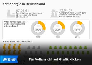 Infografik - Kernkraftwerke und Kernenergie in Deutschland