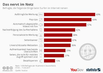 Infografik - Das nervt die deutschen im internet