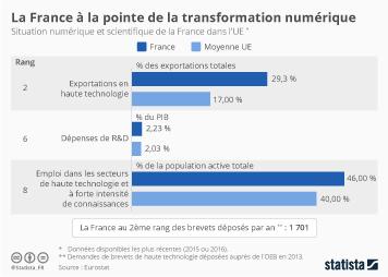 Infographie - La france à la pointe de la transformation numérique