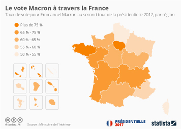 Infographie - Le vote Macron à travers la France