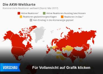Infografik - Die AKW Weltkarte