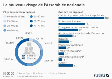 Infographie - Le nouveau visage de l'Assemblée nationale
