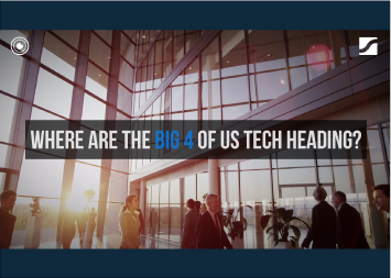 Statista Surveys Infographic - Where are the Big 4 of Tech heading?