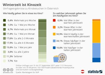 Mediennutzung in Österreich Infografik - Winterzeit ist Kinozeit
