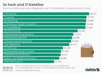 IT-Markt Deutschland Infografik - Das verdienen IT-Fachkräfte