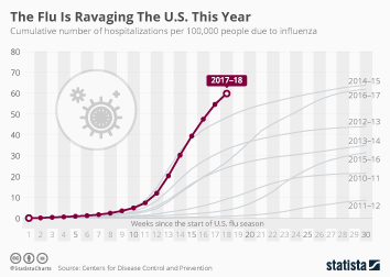 Influenza in the U.S. Infographic - The Flu Is Ravaging The U.S. This Year