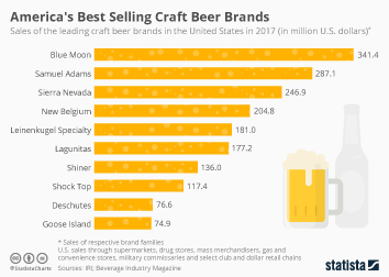 Beer Brands  Infographic - America's Best Selling Craft Beer Brands