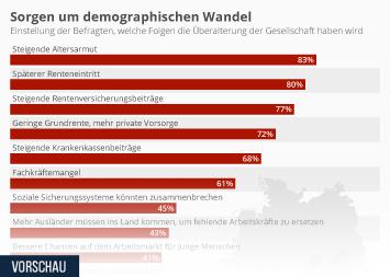 Demografischer Wandel Infografik - Sorgen um demographischen Wandel