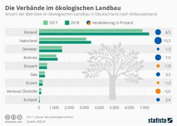 Ökologischer Landbau Infografik - Die größten Bio-Verbände