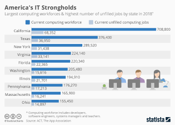 Labor Infographic - America's IT Strongholds