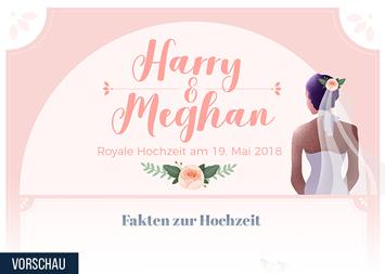 Großbritannien Infografik - Harry und Meghan trauen sich