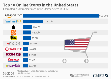 E-commerce in the United States Infographic - Top 10 Online Stores in the United States