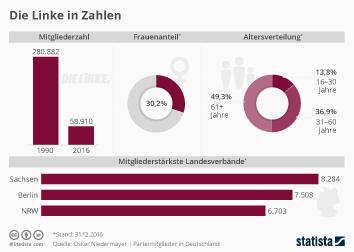 Parteien Infografik - Die Linke in Zahlen
