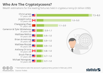 Cryptocurrencies Infographic - Who Are The Cryptotycoons?