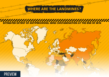 Death Infographic - Where are the Landmines?
