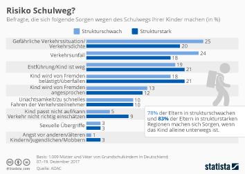 Schule Infografik - Risiko Schulweg?