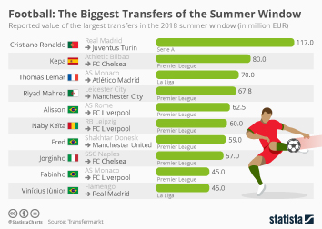 Premier League Infographic - Football: The Biggest Transfers of the Summer Window