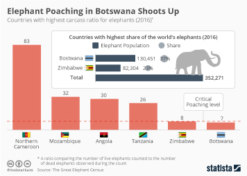Botswana Infographic - Elephant Poaching in Botswana Shoots Up
