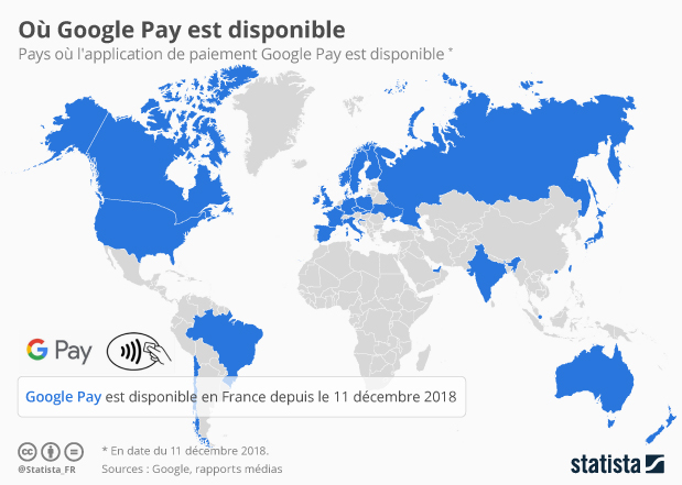 disponibilite Google Pay pays