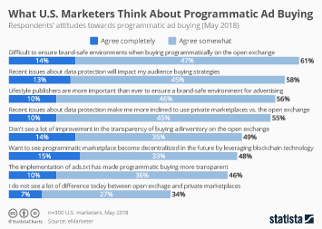 Advertising industry in the U.S. Infographic - What U.S. Marketers Think About Programmatic Ad Buying