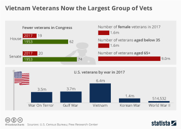 Vietnam Veterans Now the Largest Group of Vets